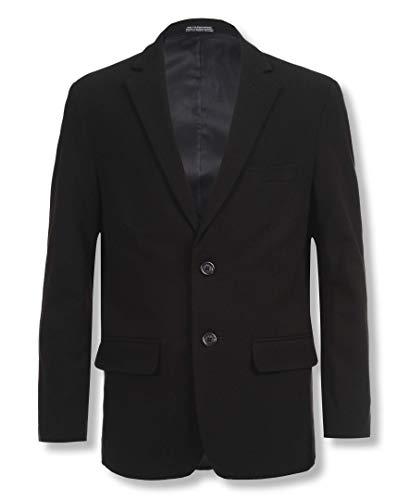 Calvin Klein Big Boys' Husky Bi-Stretch Blazer,Black,10 -