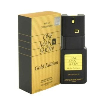 One Man Show Gold by Jacques Bogart Eau de Toilette Spray 3.3 oz for Men by Jacques Bogart