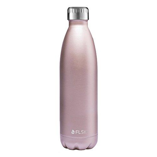 FLSK – Trinkflasche 750 ml Thermoflasche | Rosé aus Edelstahl | Isolierflasche hält 18h heiß, 24h kalt, Thermokanne