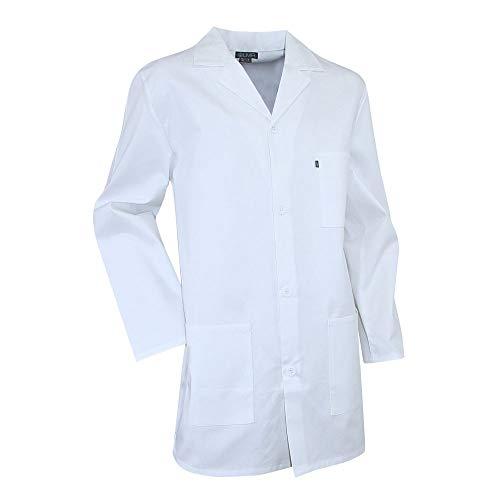 Camice bianco per studenti di laboratorio, pigmento lma bianco xs