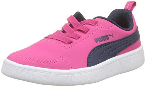 Puma Courtflex PS, Scarpe da Ginnastica Basse Unisex – Bambini, Rosa (Beetroot Purple-Peacoat White 16), 34 EU