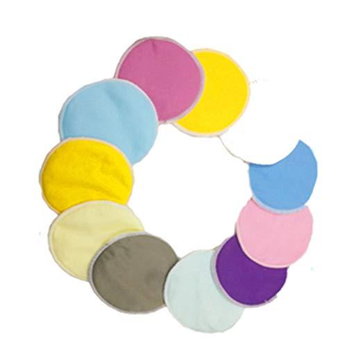 Coussinets de sein lavables réutilisables en bambou organiques pour l'alimentation de bébé Coussinets d'allaitement réutilisables d'allaitement 4pcs Couleur aléatoire