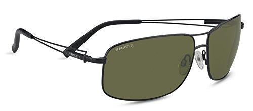 Serengeti sassari occhiali da sole, colore lente polarized 555nm, categoria lente 3, nero