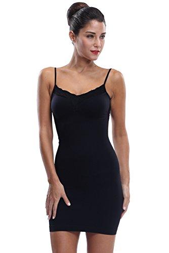 Damen Schlüpfen Shapewear Firma Slim Kontrolle Full Body Shaper Formendes Kleid - Schneiden Schwarzes Rohr