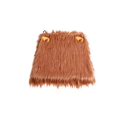 Saino Haustier Perücke Löwe Haarroller Festival Kopfbedeckung Halloween Spielzeug Lustige Heimtierbedarf Geeignet für kleine und mittlere Hund