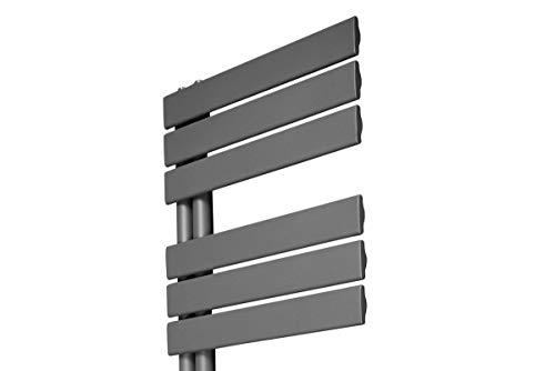 Designer Handtuchheizkörper Badheizkörper 1380x500mm Grau - 8