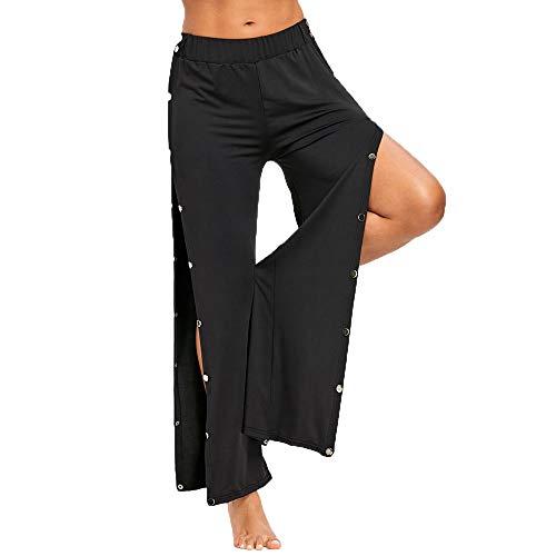 Odjoy-fan abbigliamento donna sciolto chiodo diviso pantaloni da yoga loose allentato delle split yoga pants a vita alta pantaloni lunghi sport leggings, alta vita sciolto gamba larga pantaloni