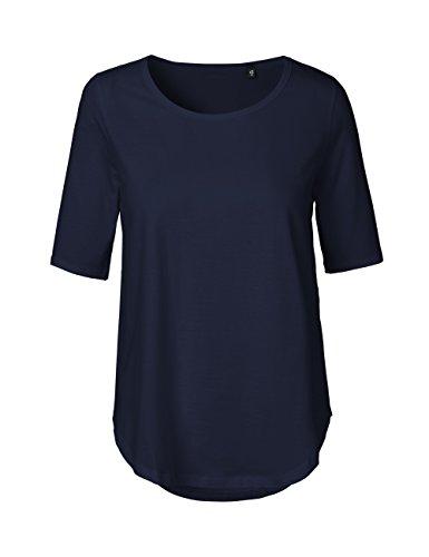 Green Cat- Damen Halbarm T-Shirt, 100% Bio-Baumwolle. Fairtrade, Oeko-Tex und Ecolabel Zertifiziert, Textilfarbe: Navy, Gr.: XXL