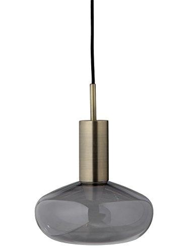 ENO STUDIO - Suspension Eno Studio Gambi laiton verre fumé gris