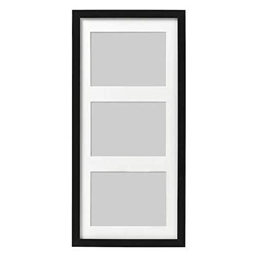 """IKEA Bilderrahmen \""""Ribba\"""" 3-er Rahmen INKL. Passepartout - (Schwarz)"""