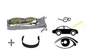Nachtsichtbrille Anti-Glanz Fahren Brillen Kontrast-Brille Nachtfahrbrille + Sportband