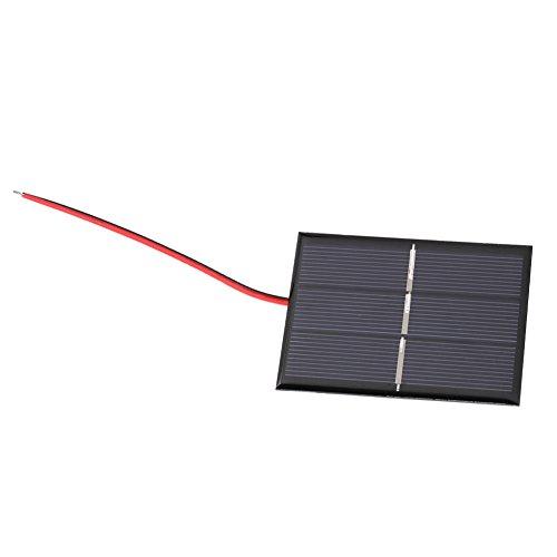 Fdit Sonnenkollektor 0,65 Watt 1,5 V Mini Tragbare Solarmodul DIY Power Solarmodul Ladegerät 2 stücke