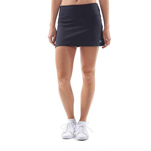 Sportkind Mädchen & Damen Tennis, Hockey, Golf Basic Rock mit Innenhose, Navy blau, Gr. 134