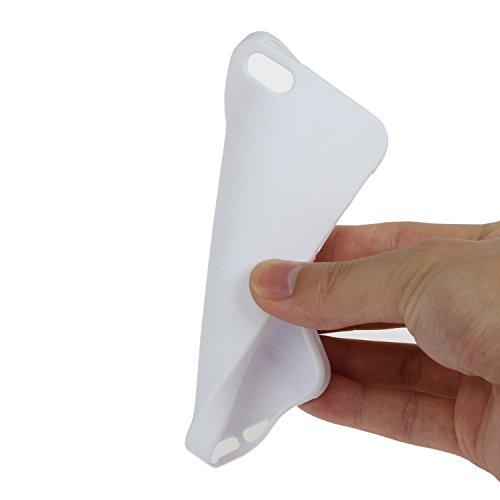 iPhone SE Coque,iPhone 5S Case,iPhone 5 Cover - Felfy Cas Ultra léger Mince Slim Gel Souple Soft Flexible TPU Silicone Fashion Couleurs de Bonbons Etui Couverture de Protection Bumper Anti Rayures Ant Blanc