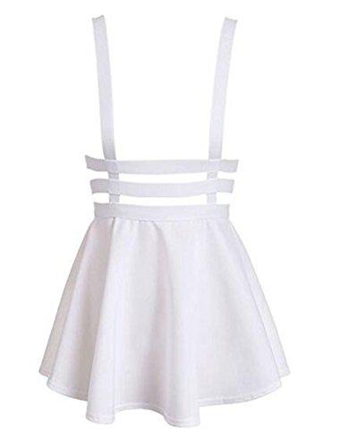 hqclothingbox Womens Pleated Short Braces Skirt (FBA)
