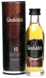 Glenfiddich 15 year old Single Malt Scotch Whisky 5cl Miniature by Glenfiddich