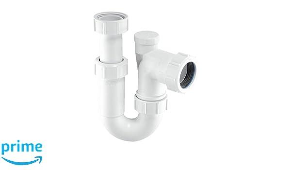 McAlpine ASA10/V 3,2/cm regolabile ingresso tubolare sifone anti-syphon P/ /bianco