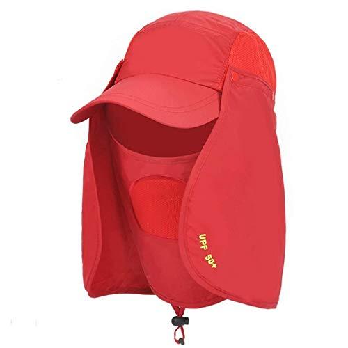 GONGFF Sonnenhüte Angeln Sonnenhut Herren Visier Hut Outdoor Cap UV-Schutz Hut Sonnenhut, Travel (Farbe: Big red)