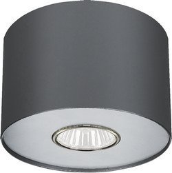 Einfacher Aufbau Spotstrahler in graphit GU10 bis 35 Watt 230V Deckenspot aus Metall Strahler Decke für Esszimmer Schlafzimmer Flur Lampe Leuchten Beleuchtung innen (Metall Aus Lackiertem Stehleuchte)