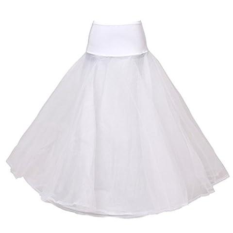 HIMRY Design Jupon de Qualité avec une cerceau, 1 cerceau, 2 Couches, avec lacet, Taille Unique, Adéquat pour Taille XS, Taille S, Taille M, Taille L, Taille XL, Taille XXL, Blanc, KXB-0019