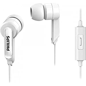 Philips SHE1405WT/94 in Ear Wired Headphones with Mic  White