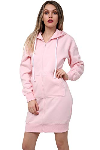 Women Girls Long Cardigan Hoodie Ladies Hooded Sweatshirt Jumper Fleece Top Cardigan Coat