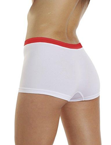 LisaModa Damen Panty 4er Pack Seamless Stretch Weiß