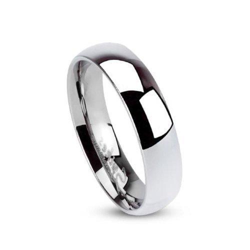 Tapsi´s Coolbodyart® Unisex Edelstahl Ring 5mm breit silber Klassischer Ehering hochglanz poliert 47 (15)