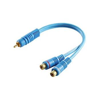 """4x 7,87/"""" Phono Y-Splitter-Kabel 1 Stecker auf 2 Buchsen AV-Audio Kabel 2x"""