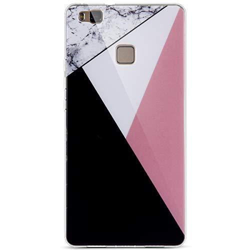 kompatibel mit Huawei P9 Lite Hülle,Weiß Marmor Muster Handyhülle Silikon Hülle TPU Silikon Schutz Handy Hülle Handytasche Schutzhülle für Huawei P9 Lite,Marmor Serie #4