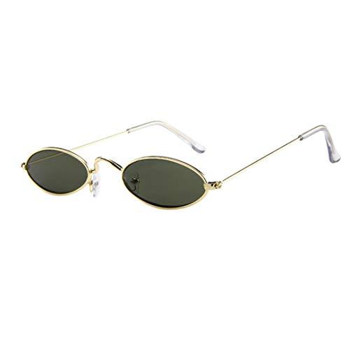 OYSOHE Retro Sonnenbrille, Neueste Der Retro kleine ovale Sonnenbrille-Metallrahmen der Art und Weisemens Frauen schattiert Eyewear (Einheitsgröße, 6)