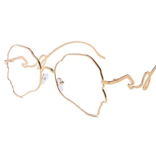 Designer-Sonnenbrille Männer Frauen Horn Umrandete Klassische Retro-Sonnenbrille im Vintage-Stil Voller UV400-Schutz Das flache Licht Unregelmäßiges Polygon-7