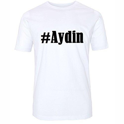T-Shirt #Aydin Hashtag Raute für Damen Herren und Kinder ... in den Farben Schwarz und Weiss Weiß