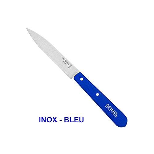 OPINEL COUTEAU D'OFFICE N°112 LAME LISSE INOX OU CARBONE/COULEUR AU CHOIX - Bleu