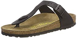 Birkenstock Gizeh, Unisex - Adults Sandals, Black (Black), 5.5 Uk (39 Eu)