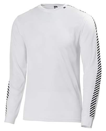 Helly Hansen Hh Dry Stripe Crew Top Sportivo Uomo - Bianco (Bianco (001)) - L