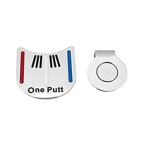 Forfar Golf Ball Line Liner Marker Golf Alloy Alignment Aiming Tool Ball Marker Magnetic Hat Clip