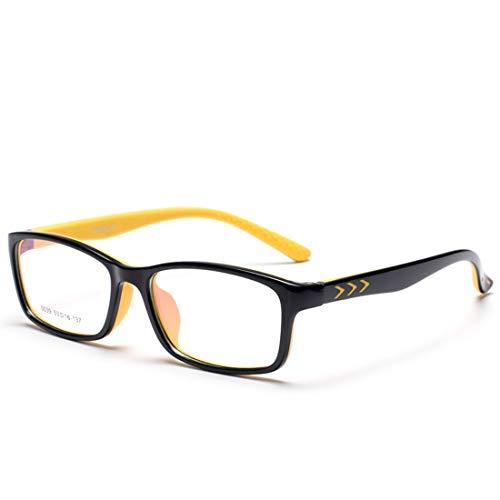 Mifusanahorn Kinder Silikon Rutschfeste Gläser Nicht verschreibungspflichtigen Brillen für Frauen Männer (Color : Yellow)