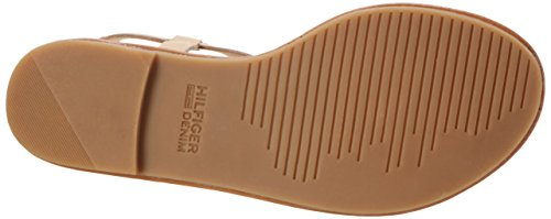 Tommy Hilfiger S1385usy 1c, Sandales Bout Ouvert Femme Or (Rose Gold-nude 901)