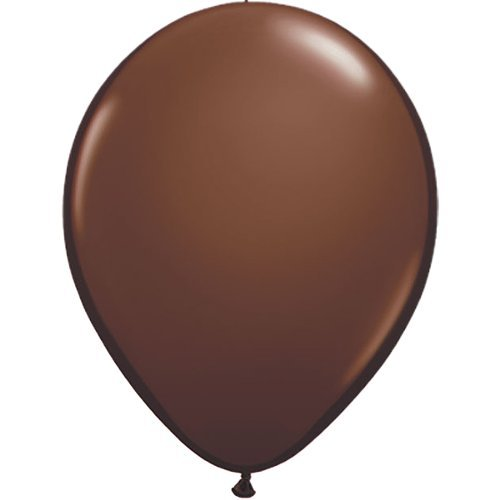 partydiscount24 10 x Luftballons Ø 30 cm | Freie Farbauswahl | 23 Ballon Farben (Braun) -