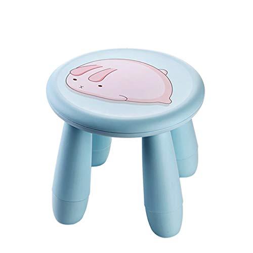cartoon stool Taburete de plástico Desmontable de Dibujos Animados de Adultos Zapatos Taburete bajo Antideslizante pequeño Banco Grueso Taburete Redondo 28CMX25CM