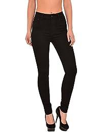 by-tex Jean femme pantalon en jean femme Jeans taille haute noir et bleu - grande taille 36, 38 ….. 54, 56