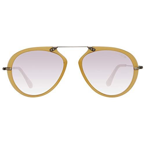 Tom Ford Unisex-Erwachsene FT0473 39Y 53 Sonnenbrille, Honig,