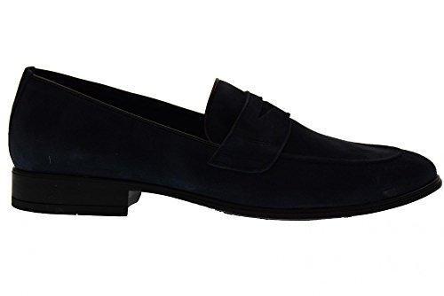 Antica Cuoieria Mocassins Homme Chaussures 19763-A-S67 Blu Amalfi Bleu