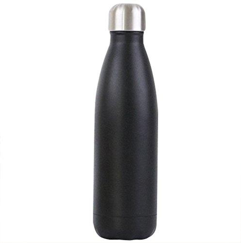 babyprice 500ml Edelstahl Thermos Flasche Vakuum Isolierung Cup Wasser bottle-hot und Kälte halten, schwarz -