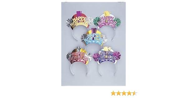 Toyvian cappelli da festa di capodanno cappello da jazz di carta puntelli cappellini di carta da festa cappello da cosplay puntelli oggetti di scena belli da palcoscenico 6 pezzi oro e argento