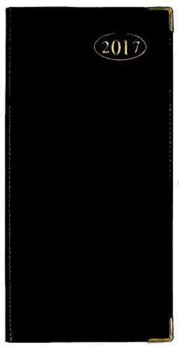 tallon-2017-week-to-view-black-slimline-business-office-diary-3634-black