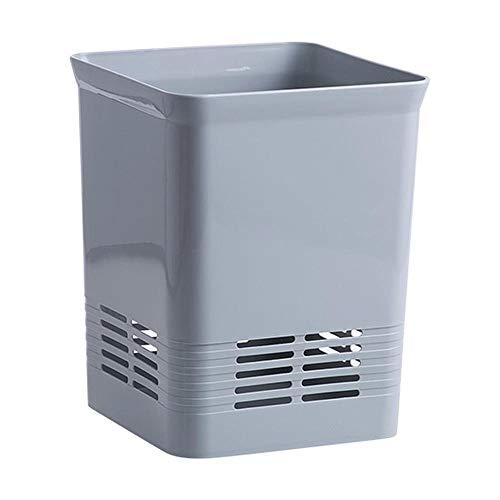 er Badezimmer Square Papierkorb Küche ohne Deckel Garbage Schlafzimmer Wohnzimmer Schlafzimmer Grauer Kunststoff Papierkorb ()