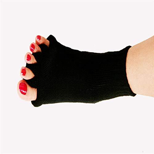 Lofana Herren & Damen SockenGestrickte Socken Benutzerdefinierte Yoga Fünf-Finger-Socken Weibliche Nitril-Baumwolle Zehensocken Fünf-Zehen-Socken Schwarz -