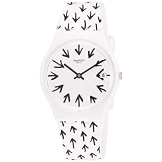 Swatch Reloj Analógico para Hombre de Cuarzo con Correa en Silicona GW409